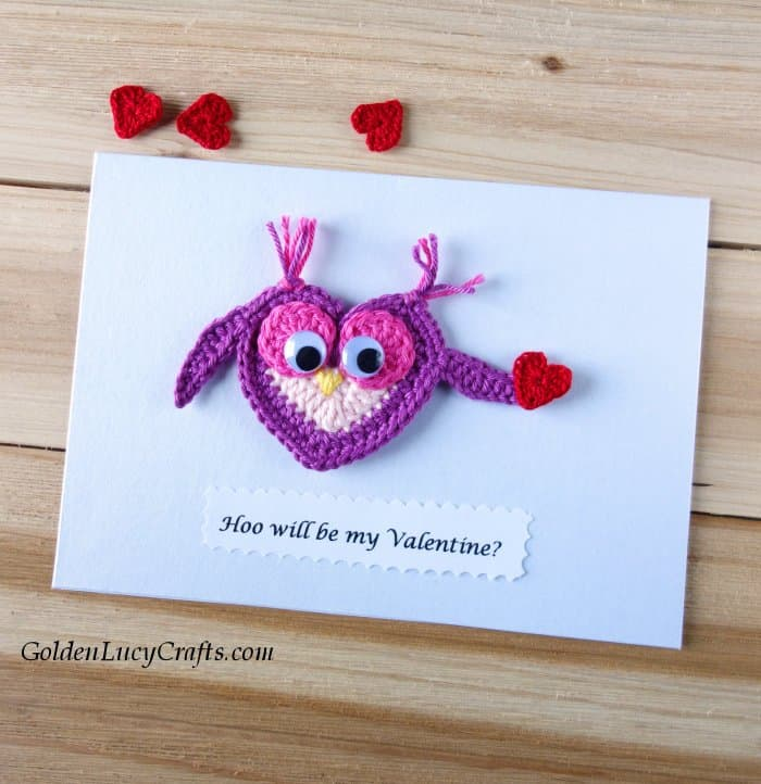 Valentine's Day handmade card, Hoo will be my Valentine, DIY Valentines card