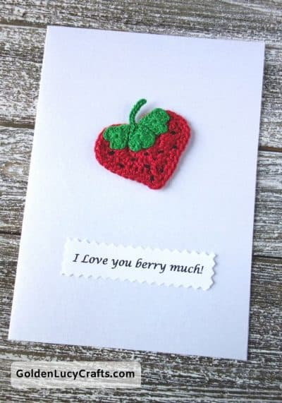 Valentine's Day handmade card, I love you berry much, DIY Valentines card ideas