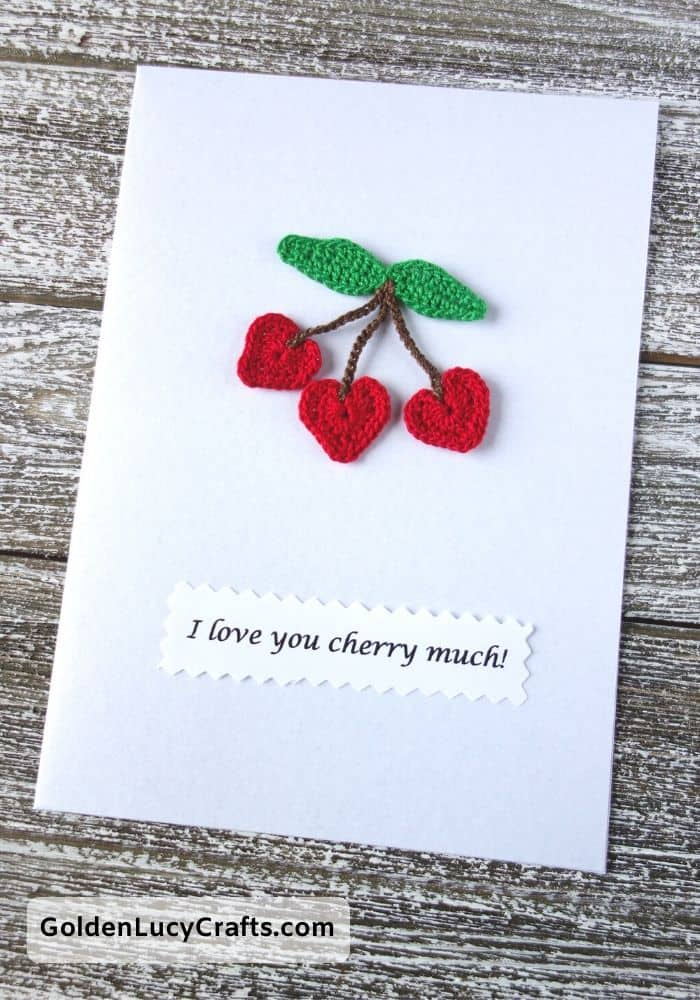 Valentine's Day handmade card, I love you cherry much, DIY Valentines card ideas