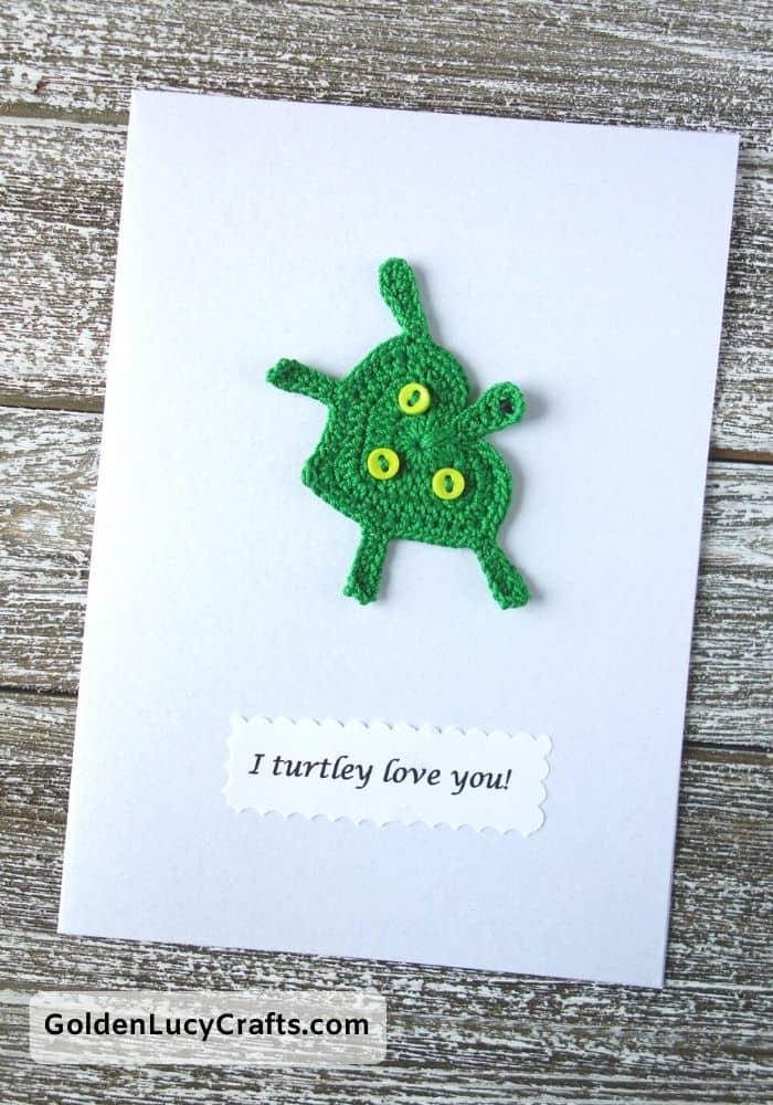 Valentine's Day handmade card, I turtley love you DIY Valentines card