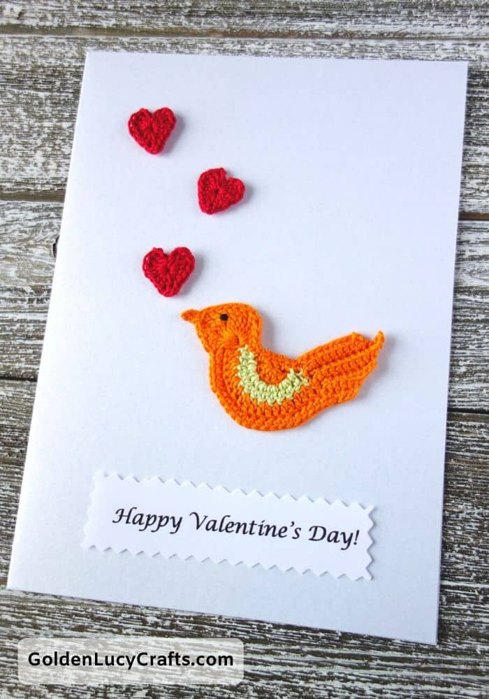 DIY Valentine's Day card ideas, Love bird card, handmade Valentines cards
