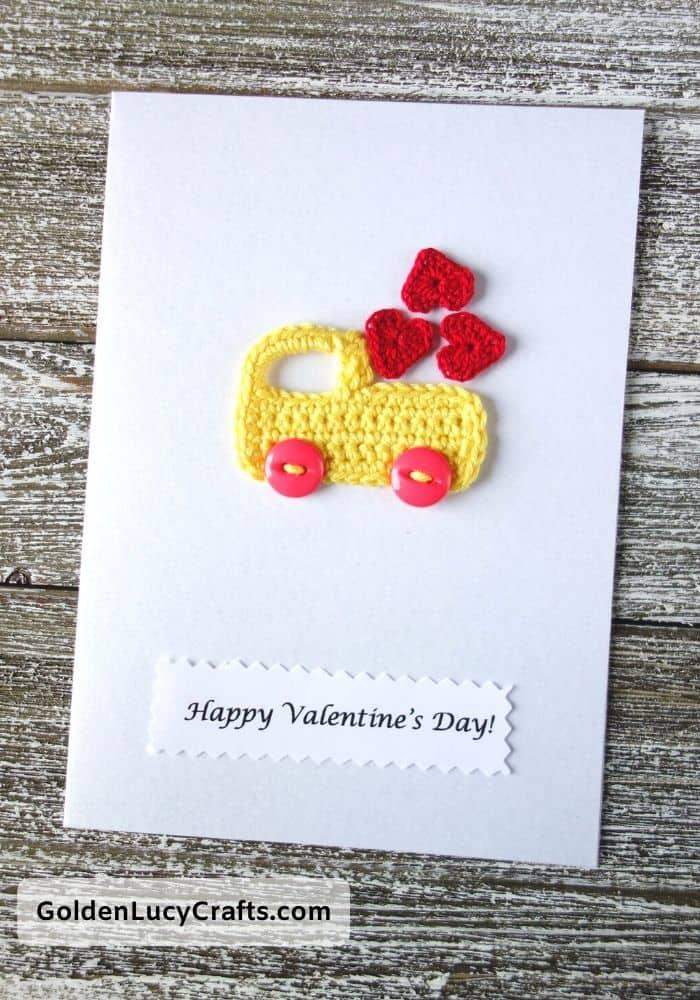 DIY Valentine's Day card ideas, Valentine truck, handmade Valentines cards