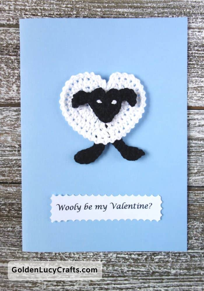 Valentine's Day handmade card, Wooly be my Valentine, DIY Valentines card ideas