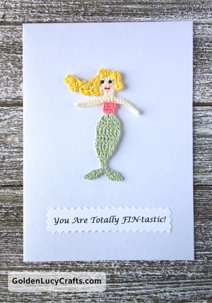 Valentine's Day handmade card, You are totally fintastic, mermaid, DIY Valentines card ideas