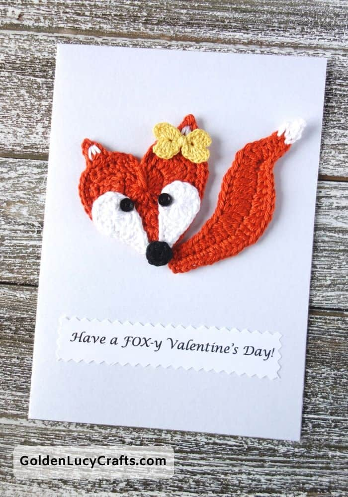 Valentine's Day handmade card,Have a Foxy Valentines Day, DIY Valentines card