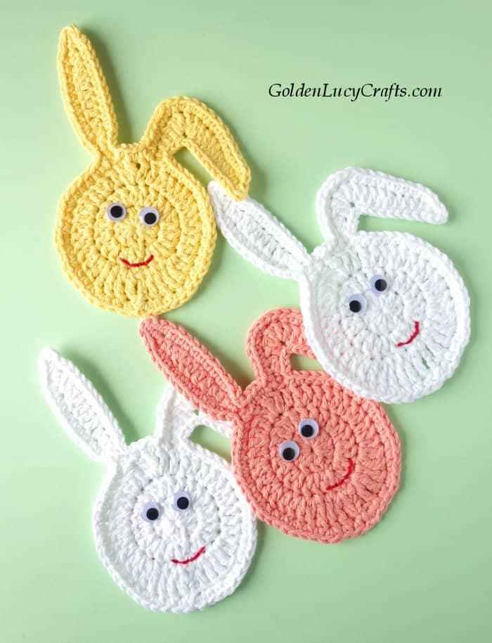 Crochet Easter decor, Easter Egg Bunny, free crochet pattern