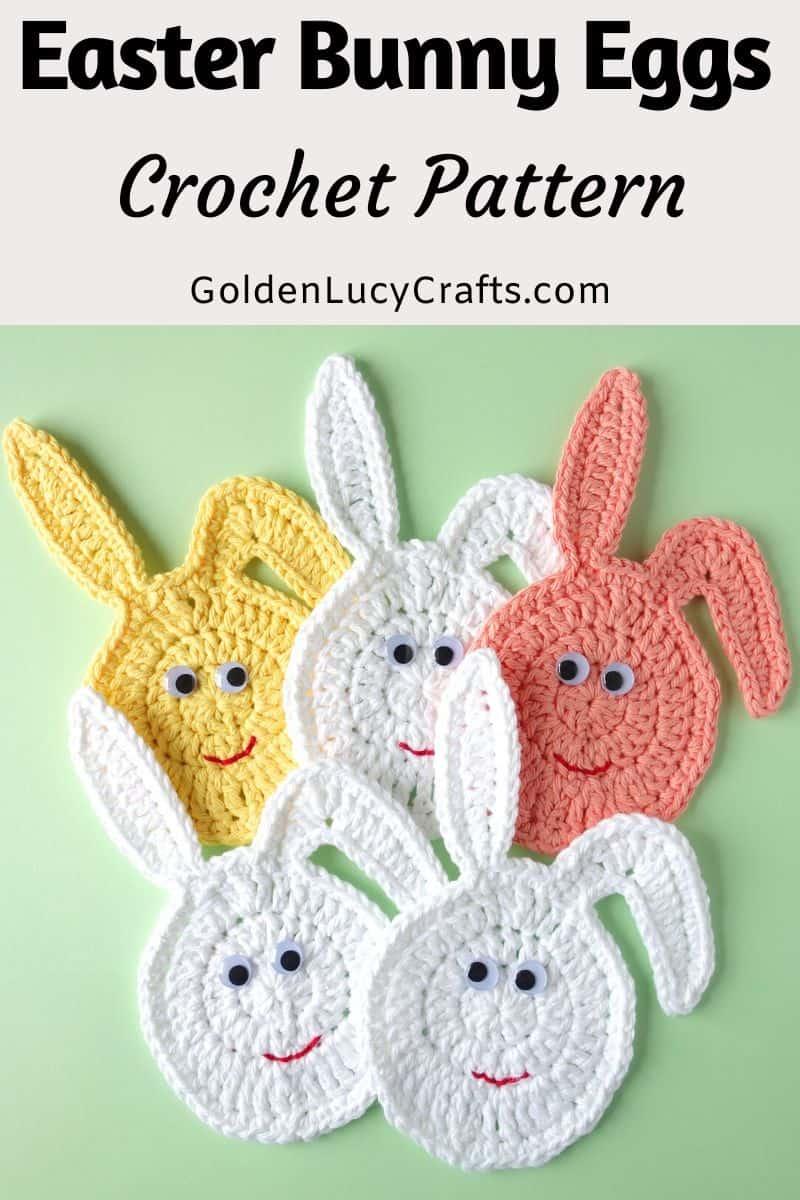 Crochet Easter decor, Easter Bunny Egg, free crochet pattern