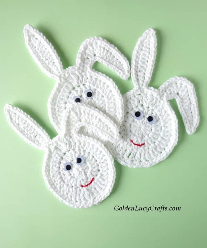 Crochet Easter decor, Easter Bunny eggs, free crochet pattern