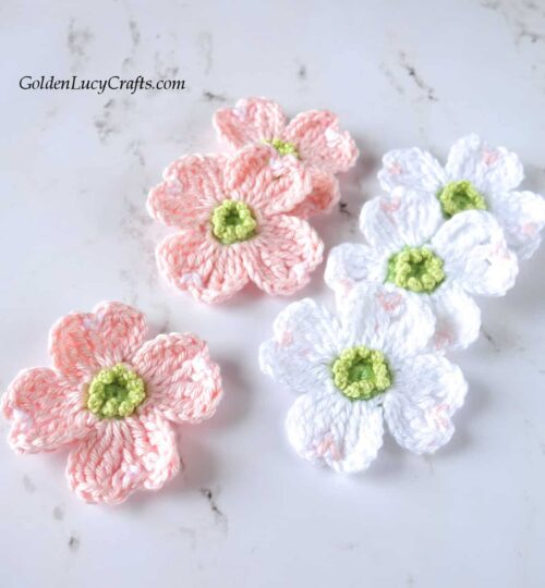 Crochet dogwood - spring flowers collection