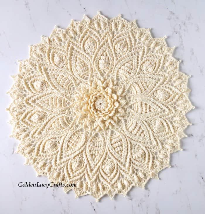 Crochet doily, home decor, table decor, gift idea for Mother's day, Birthday, Christmas