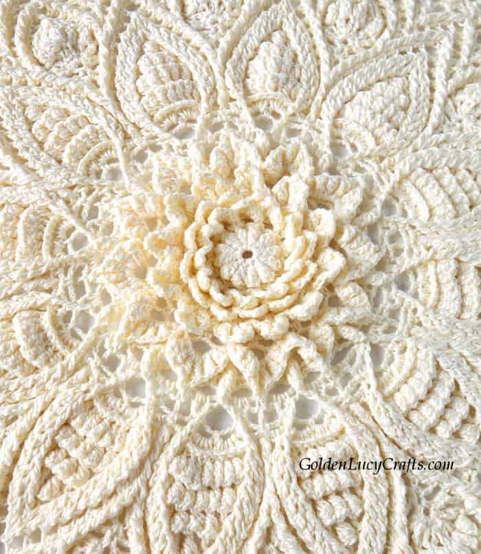 Crochet doily, close up picture - central part