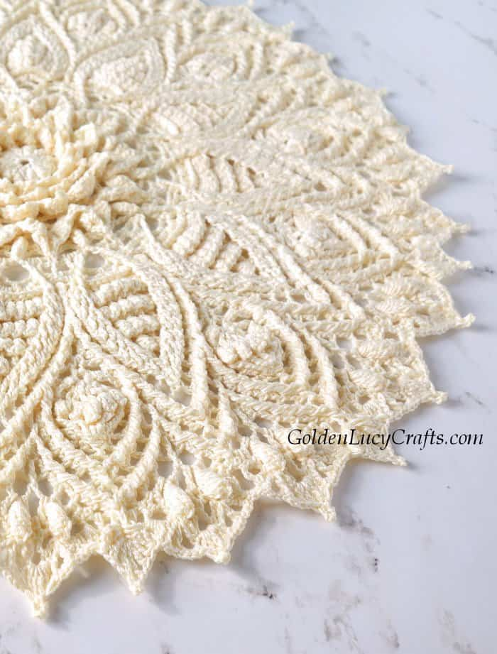Crochet doily close up picture