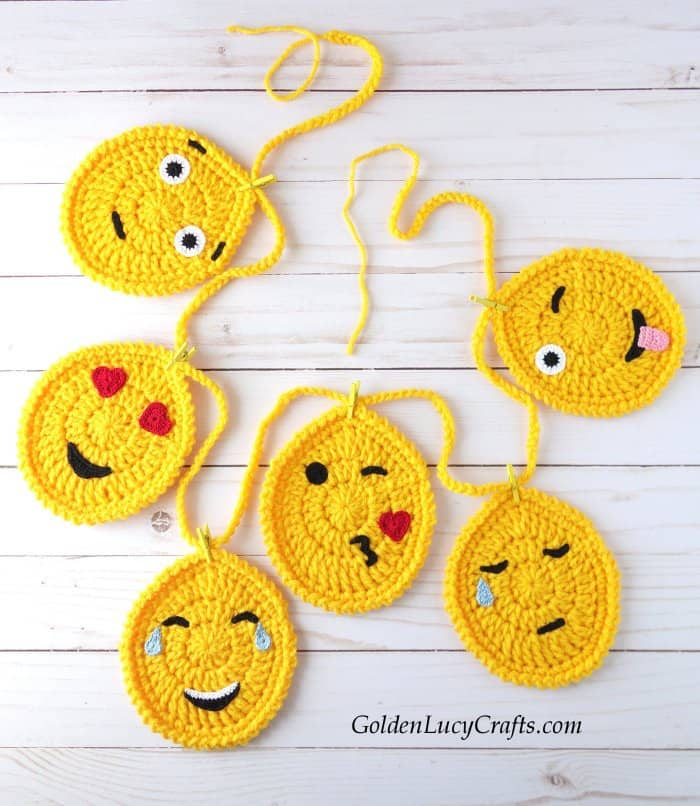 Easter crochet pattern collection, Easter garland