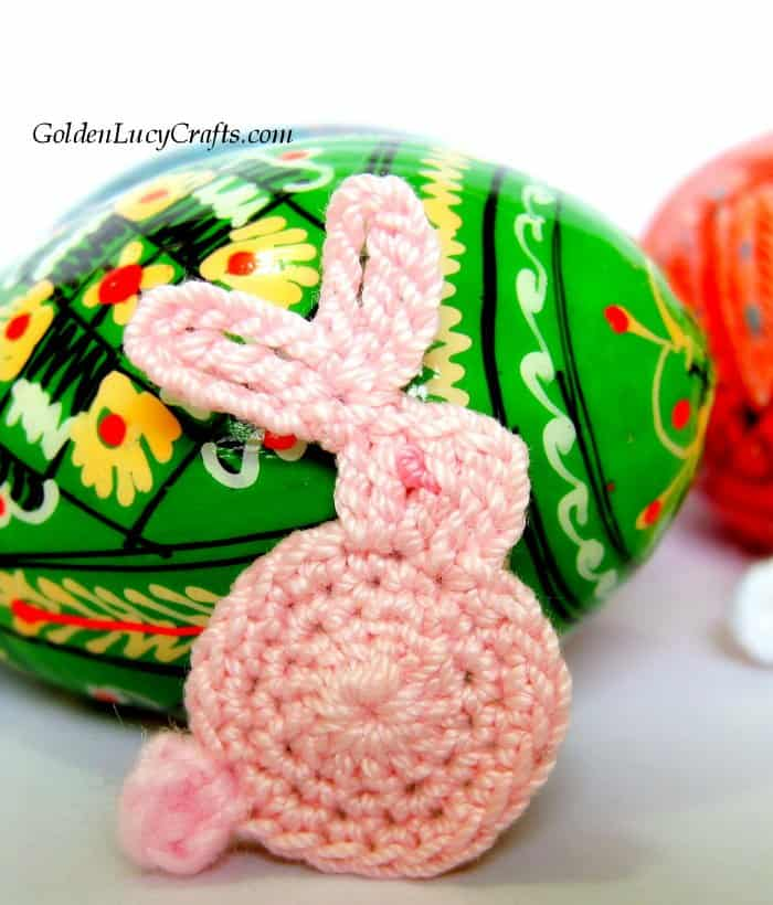 Easter crochet pattern collection, bunny applique
