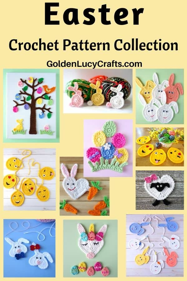 Easter crochet ideas pictures collage.