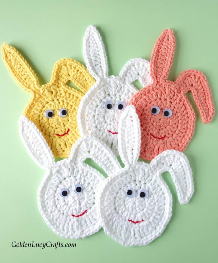 Easter crochet pattern collection, bunny egg