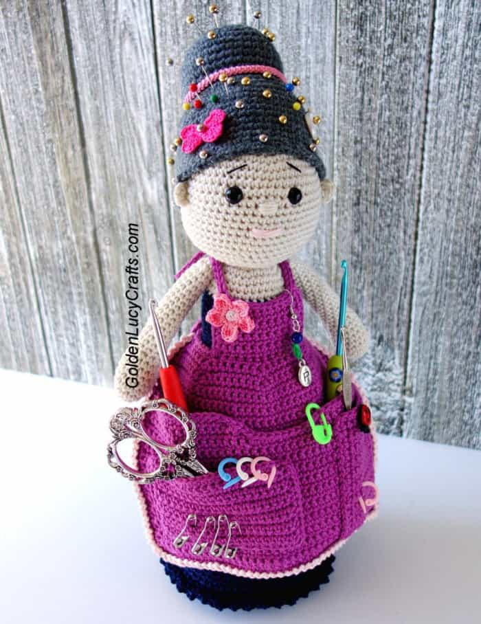 Crafter Granny organizer, crochet gift idea for Mother's Day