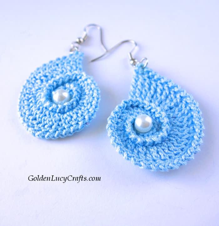Crochet earrings, handmade gift idea for Mother's Day