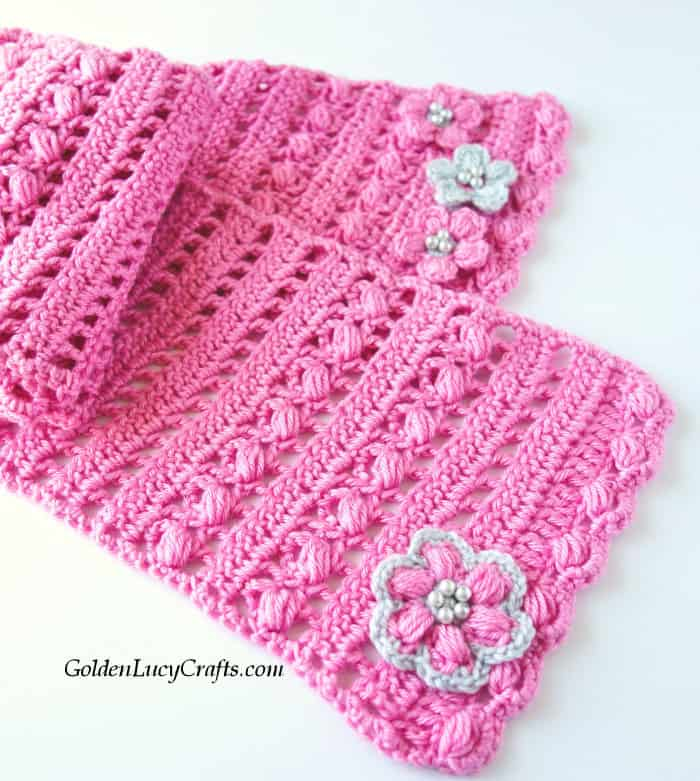 Crochet spring scarf, handmade gift idea, mother's Day