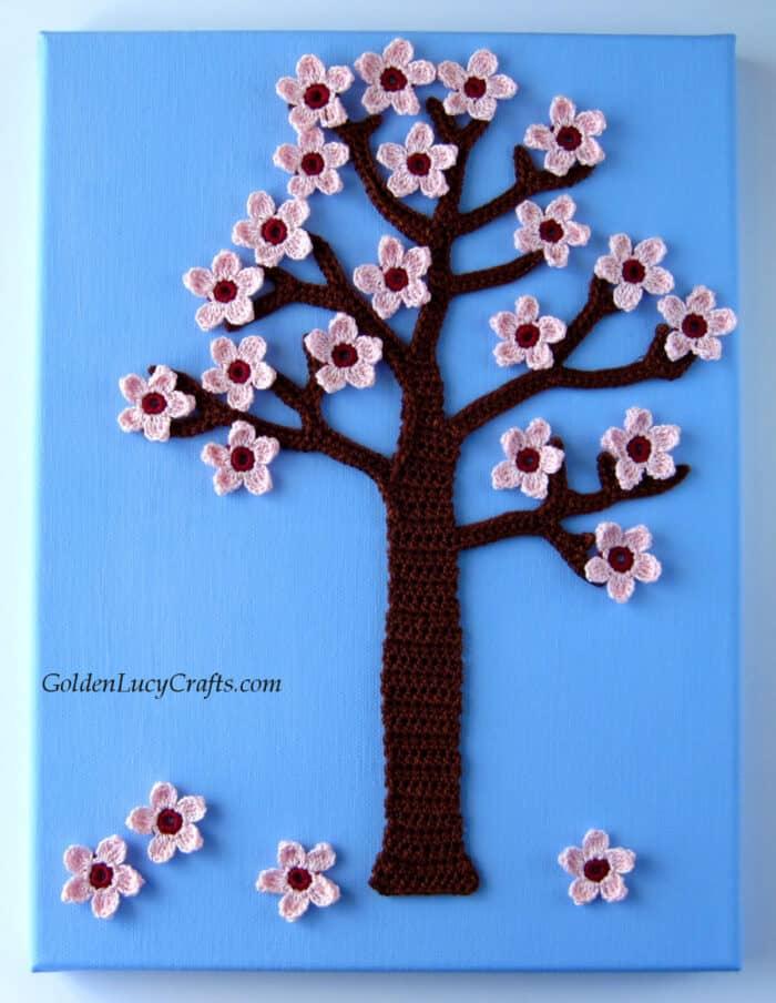 Crochet Spring tree