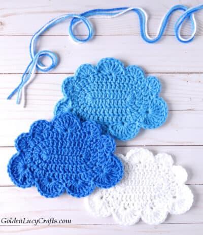 Crochet large cloud free pattern