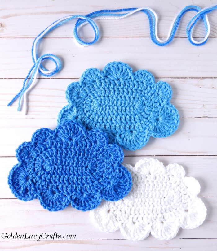 Crochet large cloud free pattern