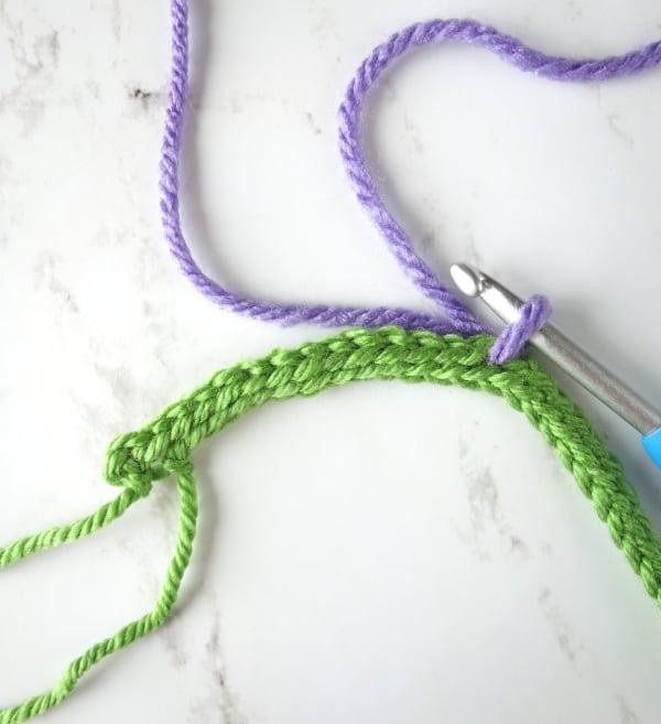 Crochet lavender flowers