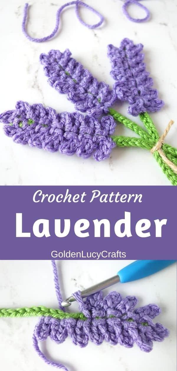 Crochet lavender flower pattern