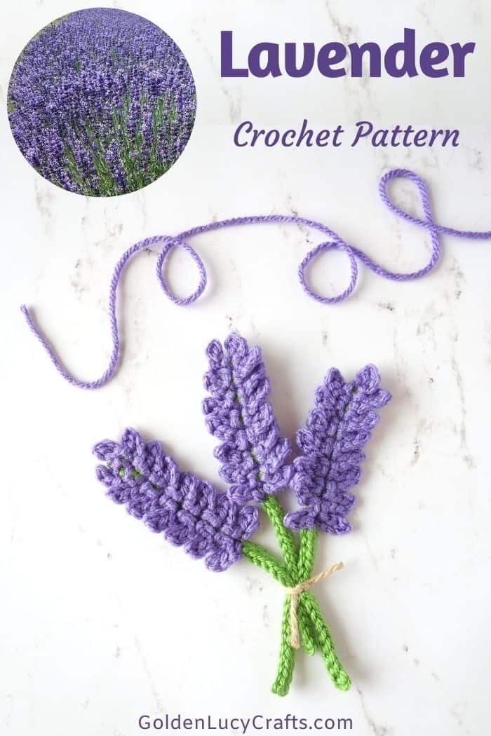 Lavender applique crochet pattern