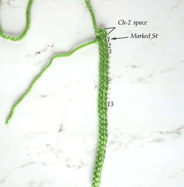 Crochet lavender - stem