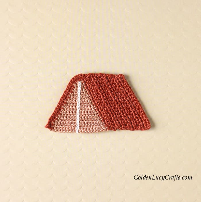 Crochet tent applique.