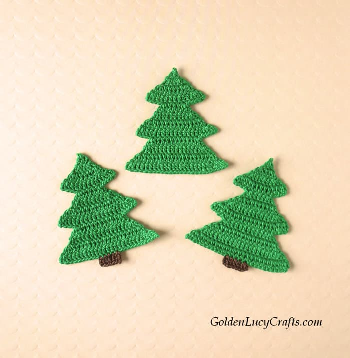 Crochet trees applique.