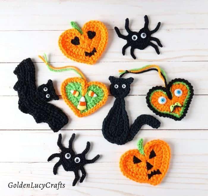 Crochet Halloween appliques