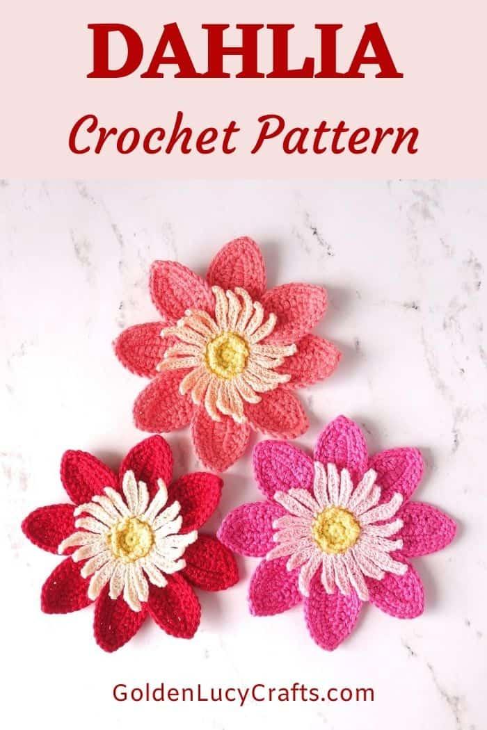 Crochet dahlia flowers