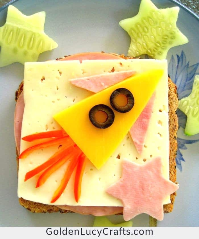 Fun sandwich for kids - to the stars