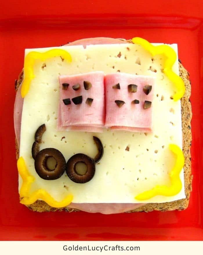 Fun sandwich for kids