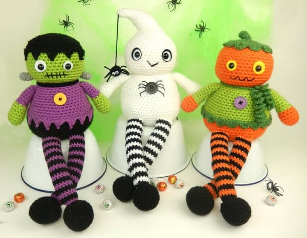 Halloween crochet dolls
