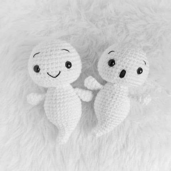 Crochet baby ghosts amigurumi
