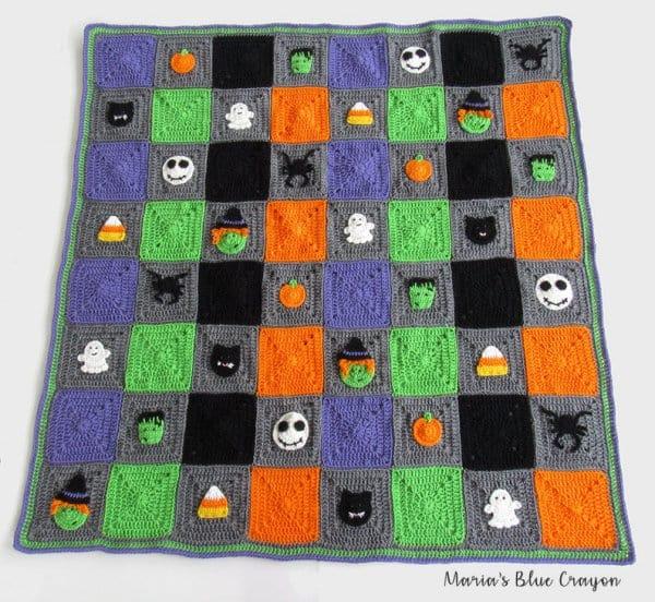 Crochet Halloween blanket