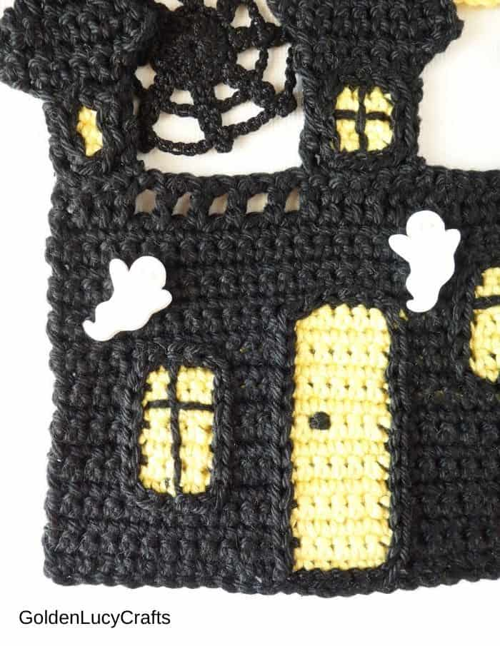 Crochet Haunted House close up image