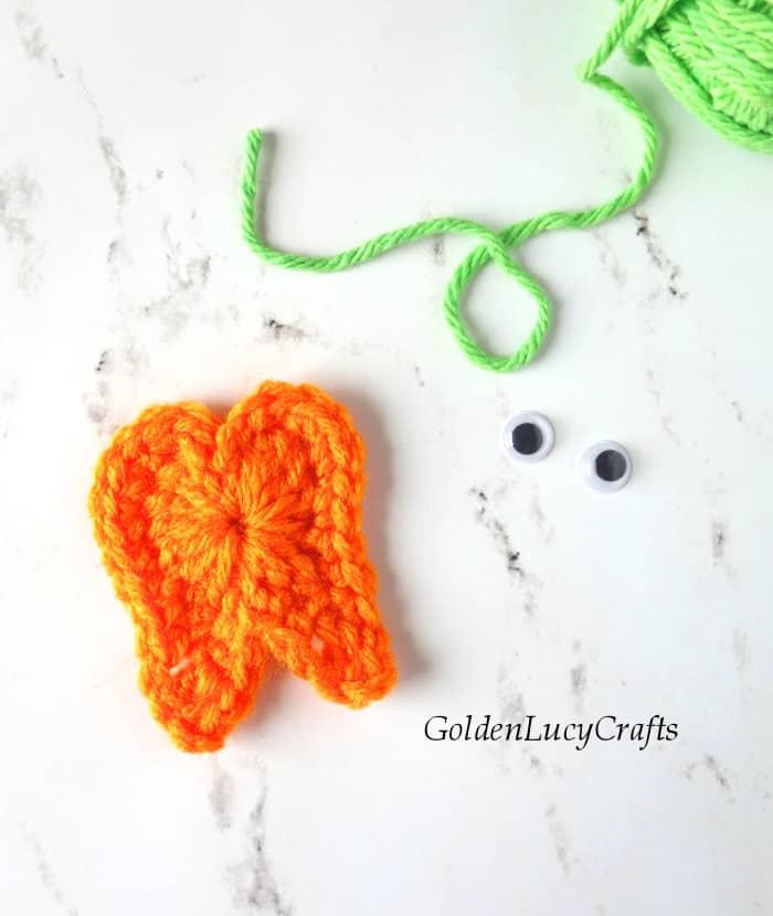 How to crochet tooth pumpkin