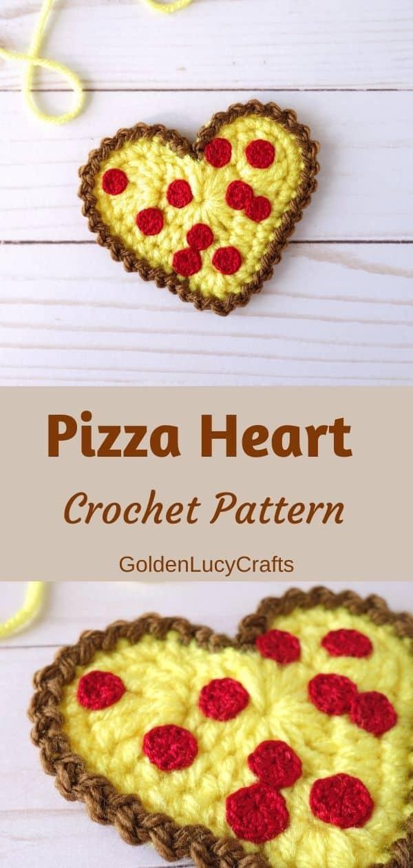 Pizza heart crochet pattern