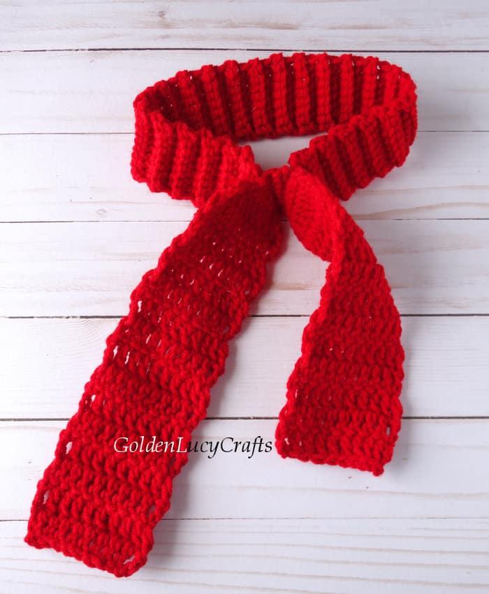 Process shot - crocheting bandana for dog
