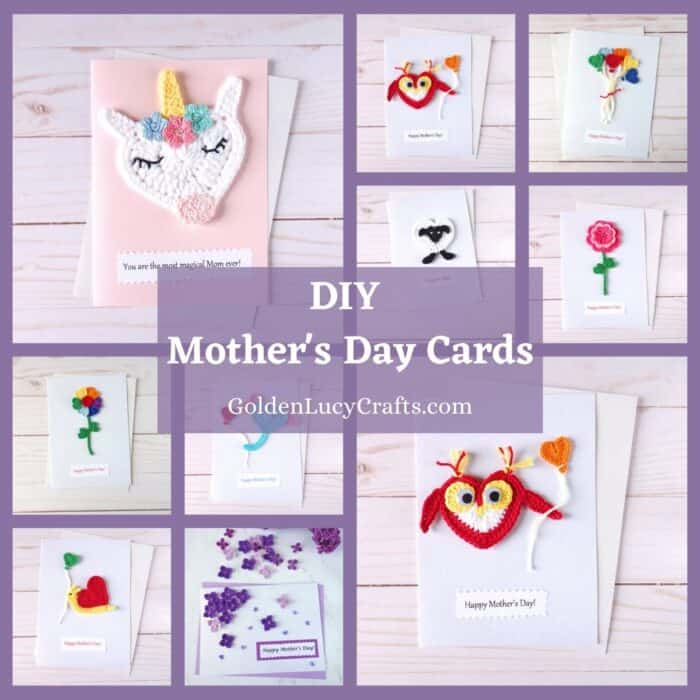 DIY Mother's Day cards photo collage.