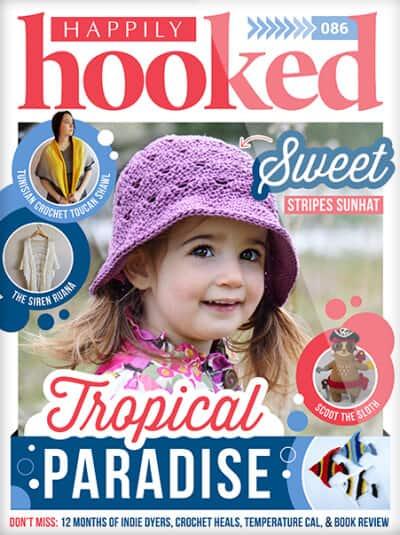 Portada de la revista Happily Hooked.