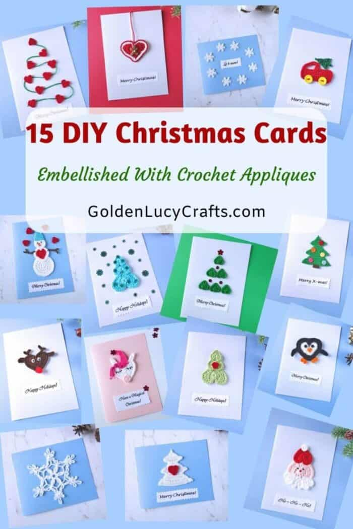 Photo collage of DIY Christmas cards.