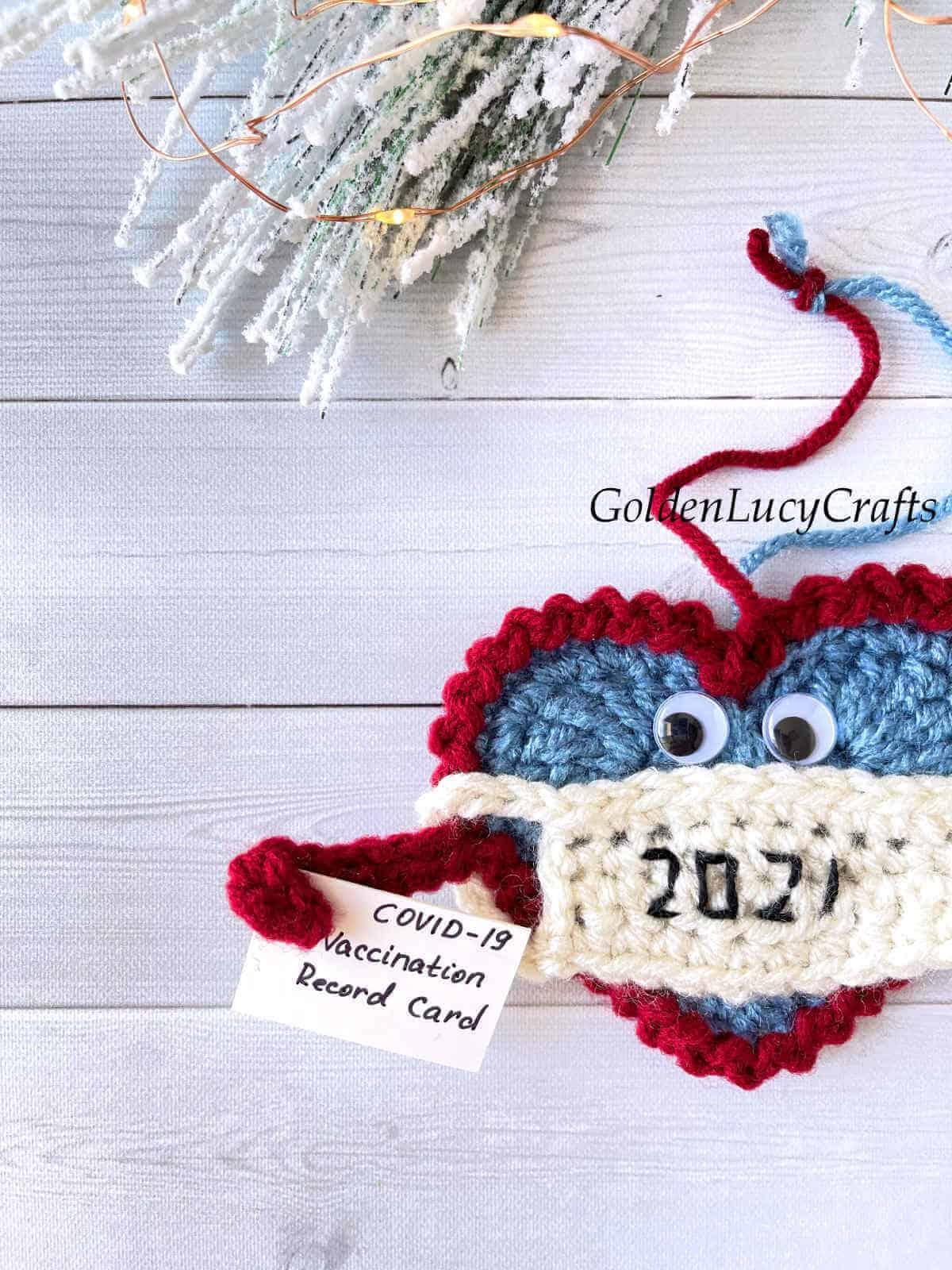 Crochet Christmas ornament 2021 close upimagem.